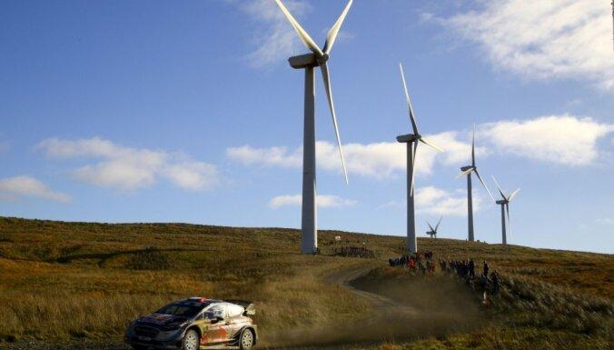 Piektā WRC titula tīkotājs Ožjērs trešais pēc Velsas rallija pirmās dienas