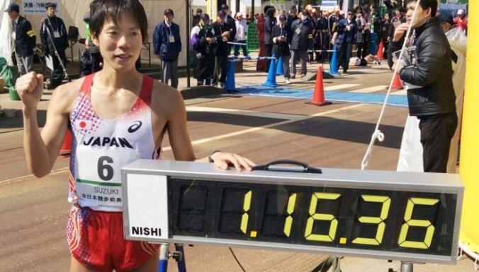 Japāņu soļotājs Suzuki sasniedz jaunu pasaules rekordu 20 kilometru distancē