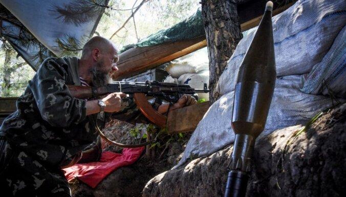 Prokremliskie kaujinieki aizvadītajā diennaktī nošāvuši vienu Ukrainas karavīru