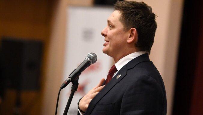 """Депутат Кайминьш предложил заменить надпись """"Один закон— одна правда для всех"""" на цитату из Оруэлла"""