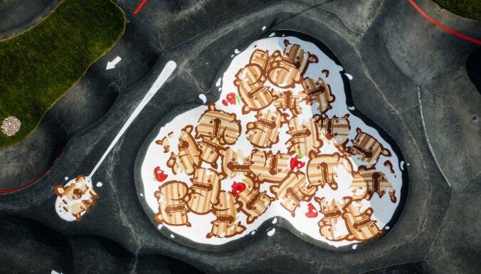 Mārupē tapusi lielākā brokastu pārslu bļoda pasaulē, pa kuru var braukāt ar velo