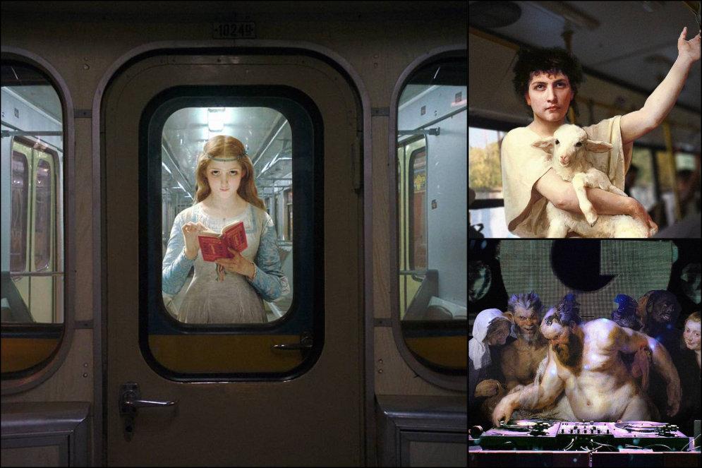 ФОТО. Художник перенес героев старых картин в наше время и результат очень хорош!