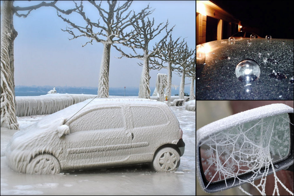 "Авто-заморозки. Топ-8 ФОТО машин, над которыми ""поработал"" дедушка Мороз"