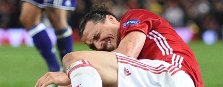 Ibrahimovičam nopietna ceļgala savainojuma dēļ šī sezona, visticamāk, ir beigusies