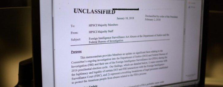 Kongress publisko republikāņu ziņojumu par ļaunprātīgu varas izmantošanu FIB
