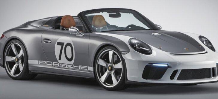 'Porsche' savā jubilejā prezentējis '911 Speedster' rodsteru