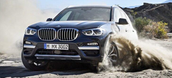 BMW prezentējis jauno 'X3' apvidnieku un tā sportisko versiju
