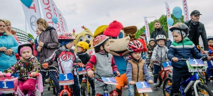 Foto: Jubilejas Rīgas velomaratonā iekļautas četras distances visa vecuma velomīļiem