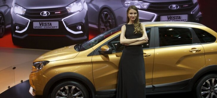 'Lada' žilbina Maskavas autoizstādē ar vairākiem prototipiem