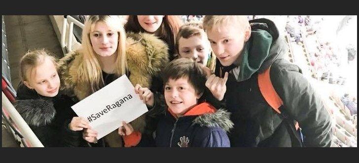Foto un video: Latvijas hokeja fani ceļas Raganas Jurčika aizstāvībai