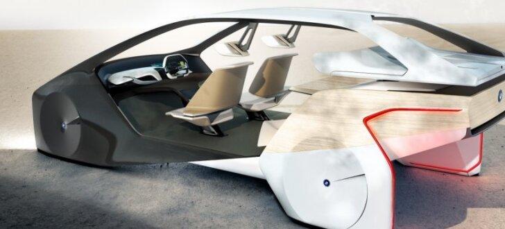 BMW demonstrē vīziju par nākotnes automobiļu interjeru