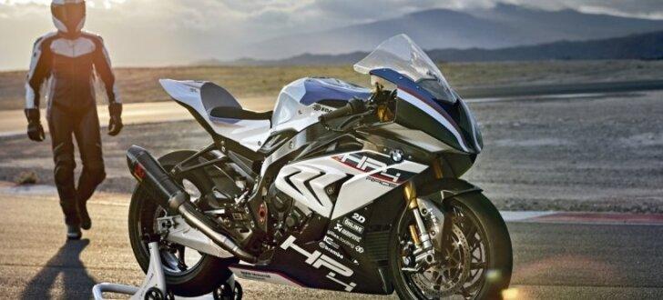 Jaunais 'BMW HP4 Race' motocikls ar oglekļa šķiedras rāmi
