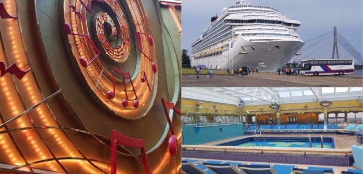 ФОТО, ВИДЕО: В Рижский пассажирский порт зашел роскошный дворец — лайнер Costa Pacifica