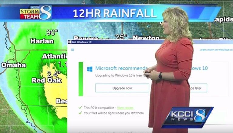 Video: Laika ziņu tiešraidi iztraucē 'Windows 10' paziņojums
