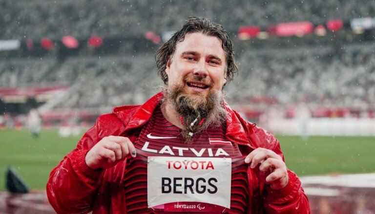 Bergs ar jaunu Eiropas rekordu izcīna piekto vietu paralimpisko spēļu lodes grūšanas sacensībās