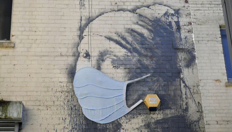 Benksija darbs Bristolē tiek pie pandēmijas sejas maskas