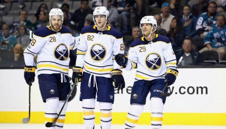 'Sabres' nesagādā dāvanu Girgensonam viņa 300. spēlē NHL un kapitulē 'Penguins'