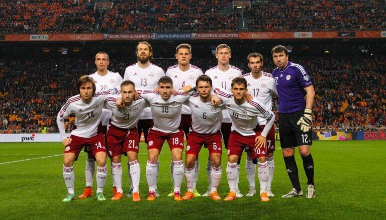 Latvijas futbola izlase aizvadīs pārbaudes spēli ar Ukrainas valstsvienību