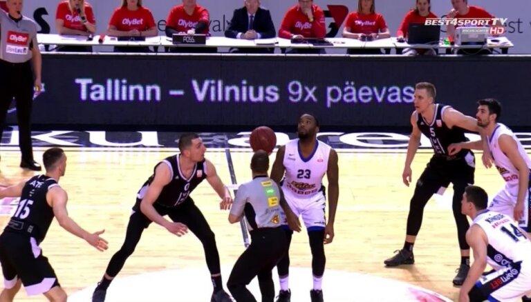 'OlyBet' basketbola līgas pusfināls: 'VEF Rīga' - 'Kalev/Cramo'. Spēles labākie momenti