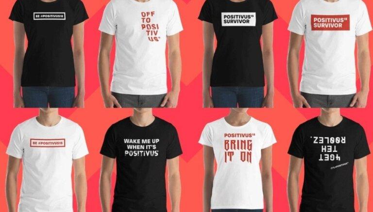 'Positivus' laiž apgrozībā festivāla oficiālos T-kreklus