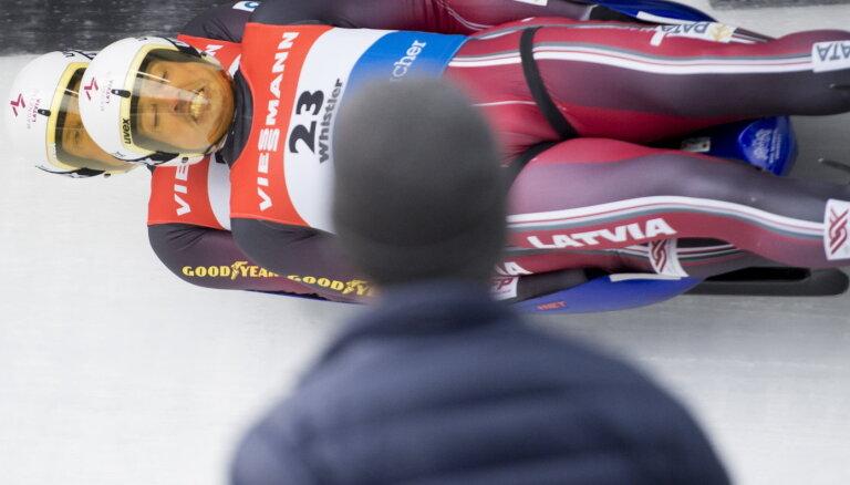 Latvijas kamaniņu braucēji izcīna bronzas medaļu Eiropas čempionāta stafetē