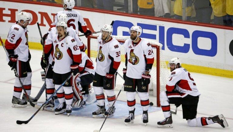 'Senators' arī otrajā NHL mačā Stokholmā uzvar 'Avalanche'