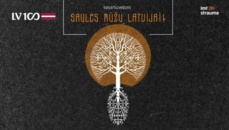 Koncertuzvedums 'Saules mūžu Latvijai!' Video tiešraide