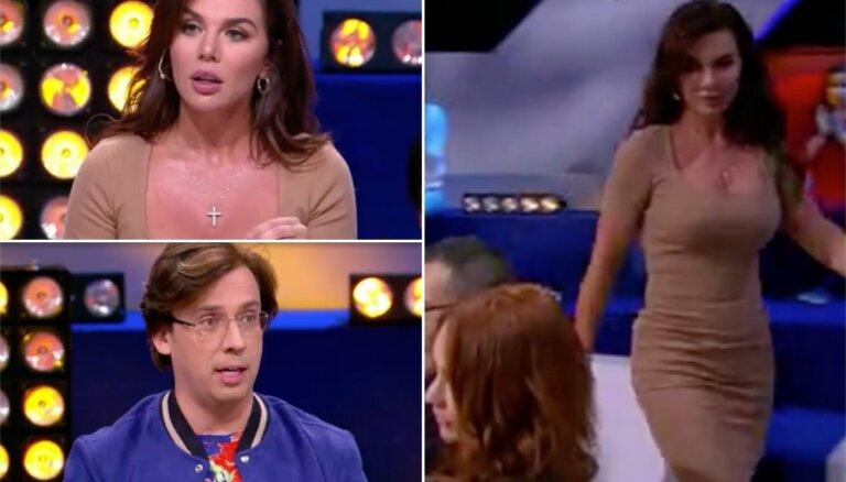 Timmas sieva Anna Sedokova aizvainojumā pamet Galkina TV šovu