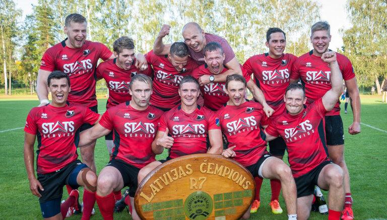 'Miesnieki/ Ķekava' trešo gadu pēc kārtas kļūst par Latvijas čempioniem regbijā 7