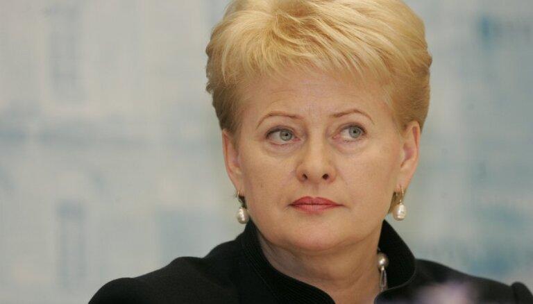 Президент Литвы на встрече с Порошенко подвергла Россию критике