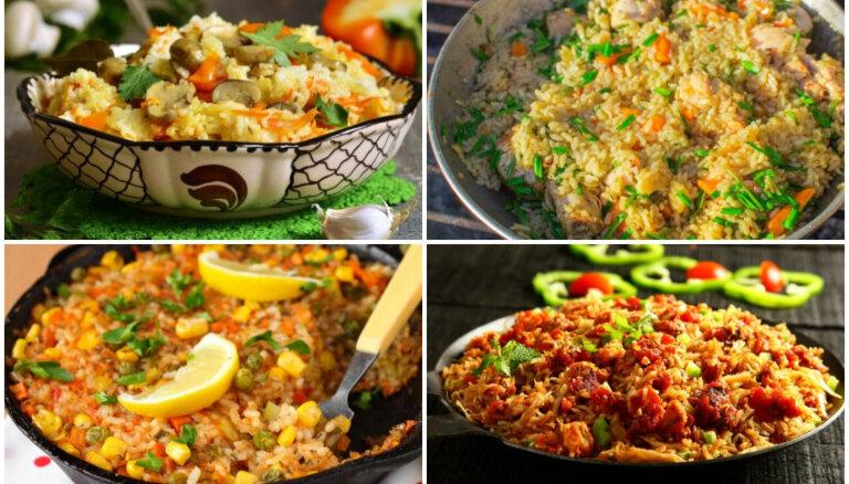 Ar vistu, sēnēm vai malto gaļu: 14 viltotie plovi ātrām un sātīgām vakariņām