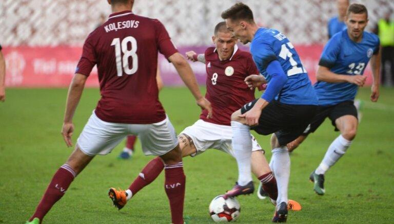 ВИДЕО, ФОТО: Как сборная Латвии впервые с 1931 года проиграла дома Эстонии