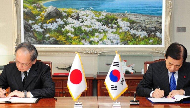 Dienvidkoreja un Japāna vairs nedalīsies ar izlūkdienestu informāciju