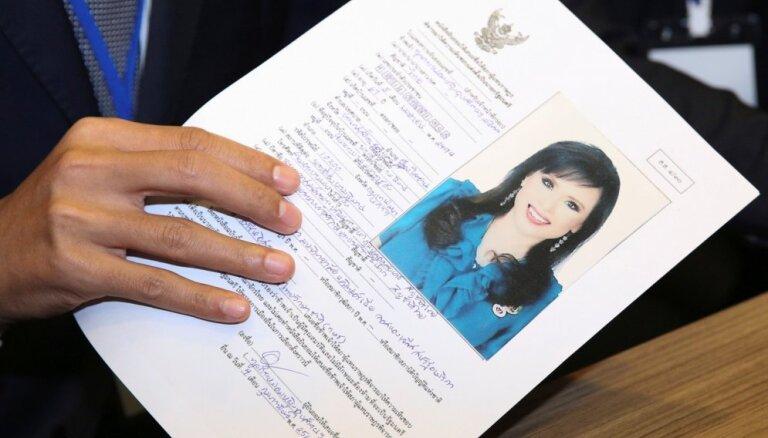Pirmoreiz vēsturē Taizemes princese tīko premjera krēslu