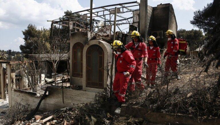 Meža ugunsgrēkos Grieķijā vismaz 80 bojāgājušie; meklē pazudušos
