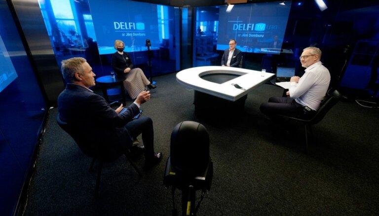 'Delfi TV ar Jāni Domburu': atbild Ziemele, Kazāks un Žagars – mācības 2020., prognozes 2021.
