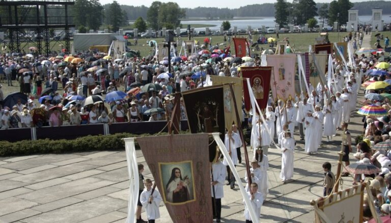 В Аглоне широко отмечается праздник Вознесения Богородицы