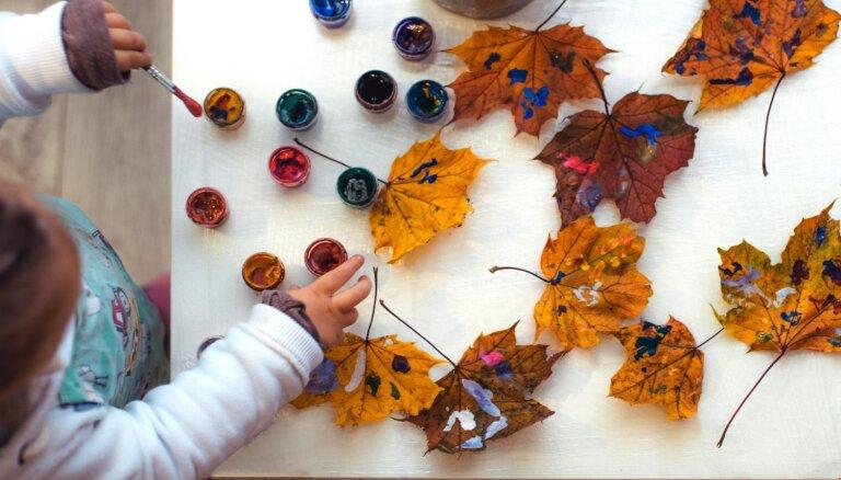 Radošas nodarbes bērniem ar košajām rudens lapām