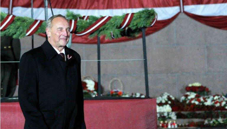 Pēc gara ceļa Latvija kļuvusi par spēku, sveicot Lāčplēša dienā, teic Valsts prezidents