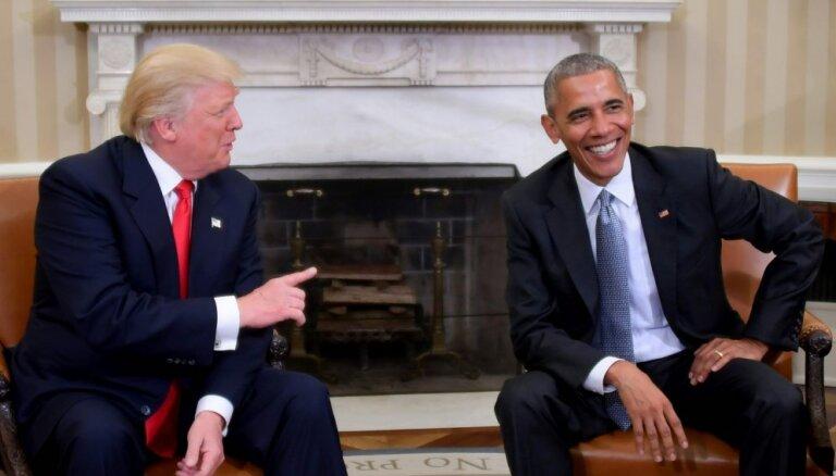 Tramps lūdz Kongresu izmeklēt, vai Obama licis viņu noklausīties