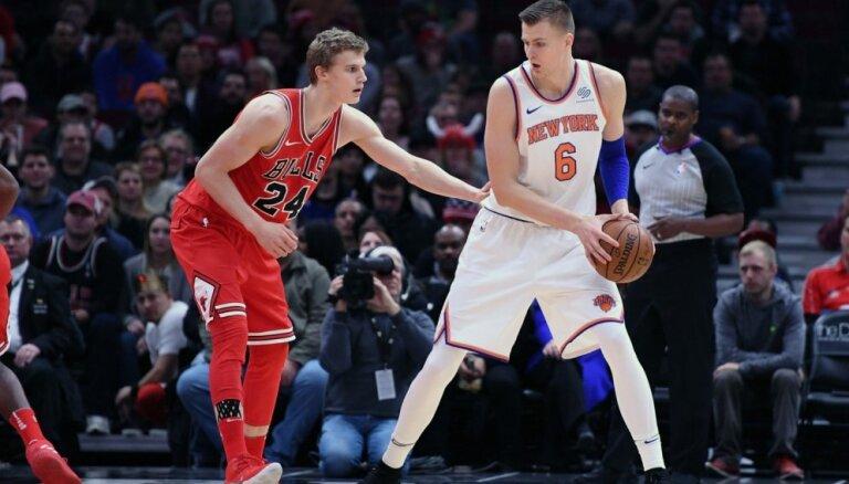 Porziņģis netrāpa izšķirošo metienu un 'Knicks' piekāpjas NBA pēdējā vietā esošajai 'Bulls'