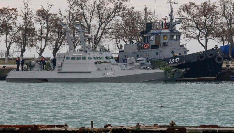 Krievijas agresija pret Ukrainas karakuģiem Kerčas šaurumā nav attaisnojama, uzskata Francija