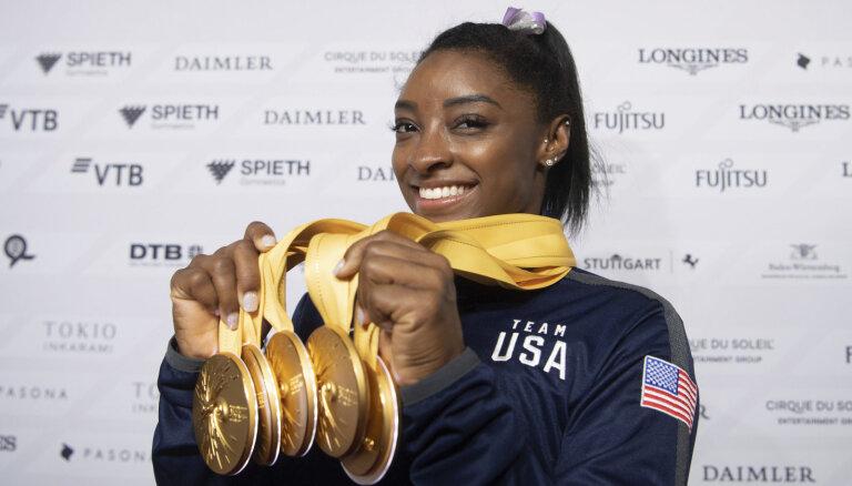 Симона Байлз стала самой успешной гимнасткой в истории чемпионатов мира
