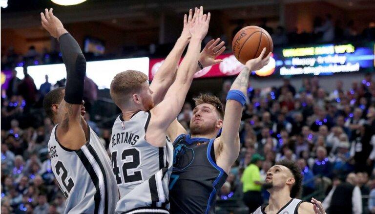 Bertāna trejacis sagādā Sanantonio 'Spurs' uzvaru pār 'Mavericks'