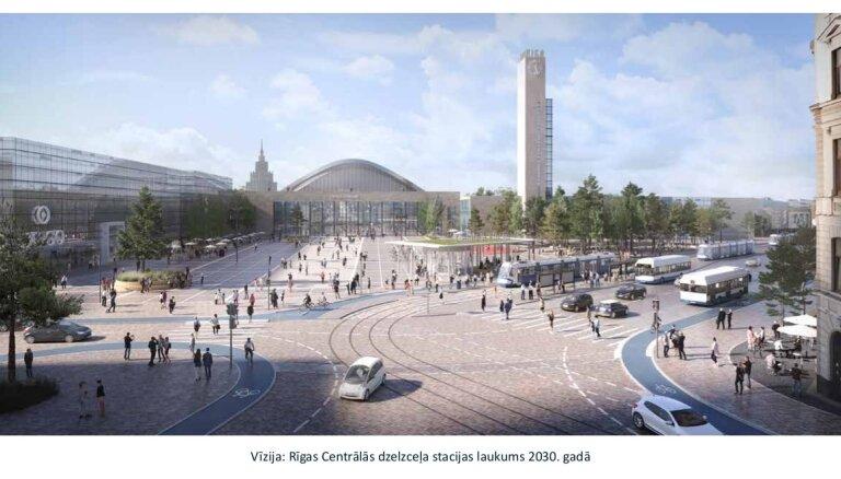 Привокзальная площадь: автомобилям придется уступить дорогу общественному транспорту, велосипедистам и пешеходам