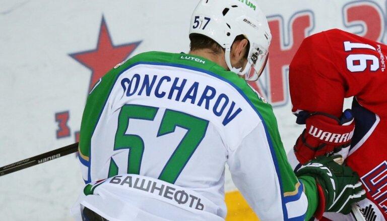 KHL uz trim spēlēm diskvalificē Maskavas 'Spartak' aizsargu Gončarovu