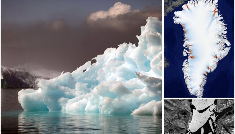 Pēdējo desmitgažu laikā sarukuši vairāk nekā 200 Grenlandes ledāju