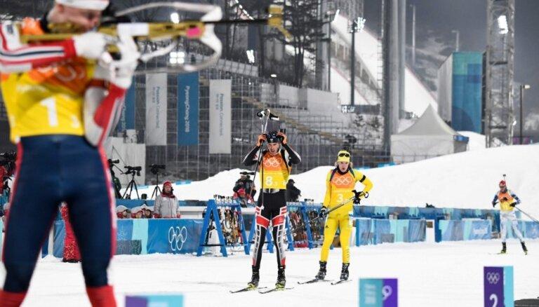 XXIII Ziemas olimpisko spēļu rezultāti biatlona stafetē vīriešiem (23.02.2018.)