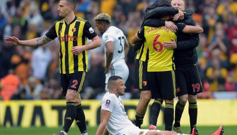 'Watford' kļūst par Mančestras 'City' pretinieci FA kausa finālā
