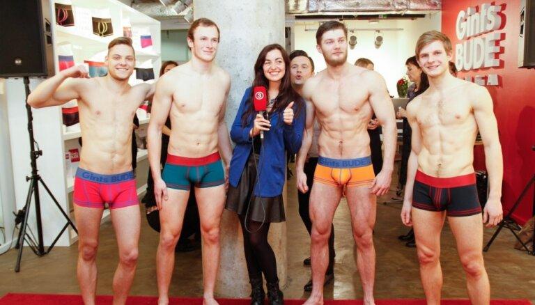 Foto: Atklāj Latvijā pirmo vīriešu veļas veikalu